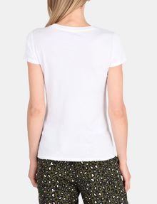 ARMANI EXCHANGE T-SHIRT MIT SCHRIFTZUG AUS MEHRFARBIGEN PAILLETTEN Logo-T-Shirt Damen r