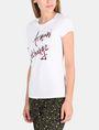 ARMANI EXCHANGE T-SHIRT MIT SCHRIFTZUG AUS MEHRFARBIGEN PAILLETTEN Logo-T-Shirt Damen d