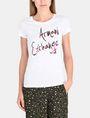 ARMANI EXCHANGE MULTI SEQUIN SCRIPT TEE Logo-T-Shirt Damen f