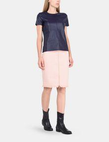 ARMANI EXCHANGE FRAYED EDGE ZIP-FRONT PENCIL SKIRT Midi Skirt Woman a