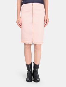 ARMANI EXCHANGE FRAYED EDGE ZIP-FRONT PENCIL SKIRT Midi Skirt Woman f