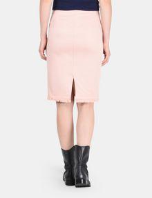 ARMANI EXCHANGE FRAYED EDGE ZIP-FRONT PENCIL SKIRT Midi Skirt Woman r