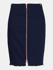 ARMANI EXCHANGE FRAYED EDGE ZIP-FRONT PENCIL SKIRT Midi Skirt Woman b
