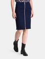 ARMANI EXCHANGE FRAYED EDGE ZIP-FRONT PENCIL SKIRT Midi Skirt Woman d