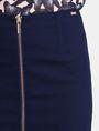 ARMANI EXCHANGE FRAYED EDGE ZIP-FRONT PENCIL SKIRT Midi Skirt Woman e