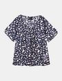 ARMANI EXCHANGE SHEER FLORAL PLEATED TEE S/S Woven Top Woman b