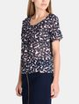 ARMANI EXCHANGE SHEER FLORAL PLEATED TEE S/S Woven Top Woman d