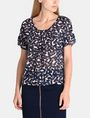 ARMANI EXCHANGE SHEER FLORAL PLEATED TEE S/S Woven Top Woman f