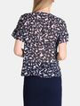 ARMANI EXCHANGE SHEER FLORAL PLEATED TEE S/S Woven Top Woman r