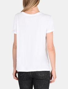 ARMANI EXCHANGE ROLLED SLEEVE DECO CITY TEE Logo T-shirt Woman r