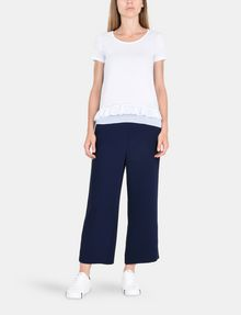 ARMANI EXCHANGE RUFFLE DETAIL TEE S/S Knit Top Woman a