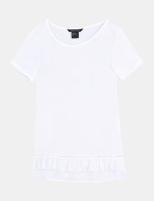 ARMANI EXCHANGE RUFFLE DETAIL TEE S/S Knit Top Woman b