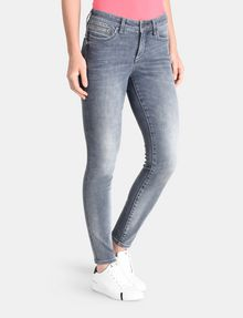 ARMANI EXCHANGE ZIP POCKET WASHED GREY SUPER SKINNY JEANS Skinny Fit Denim D d