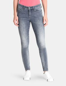 ARMANI EXCHANGE ZIP POCKET WASHED GREY SUPER SKINNY JEANS Skinny Fit Denim D f