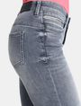 ARMANI EXCHANGE ZIP POCKET WASHED GREY SUPER SKINNY JEANS Skinny Fit Denim D e