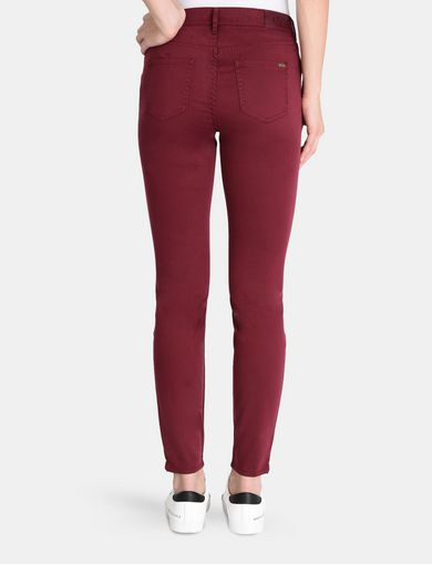 BRIGHT CROPPED ANKLE-ZIP SUPER SKINNY JEANS