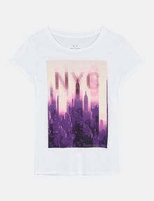 ARMANI EXCHANGE SUNSET NYC SKYLINE TEE Non-logo Tee Woman b