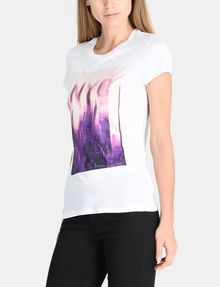 ARMANI EXCHANGE SUNSET NYC SKYLINE TEE Non-logo Tee Woman d