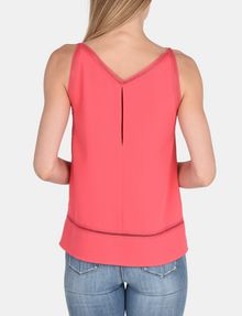 ARMANI EXCHANGE EYELET DETAIL V-NECK TANK S/L Woven Top Woman r