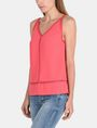 ARMANI EXCHANGE EYELET DETAIL V-NECK TANK S/L Woven Top Woman d