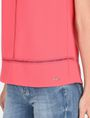 ARMANI EXCHANGE EYELET DETAIL V-NECK TANK S/L Woven Top Woman e