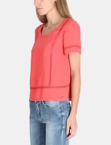 ARMANI EXCHANGE EYELET DETAIL BOXY TEE S/S Woven Top Woman d