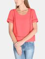 ARMANI EXCHANGE EYELET DETAIL BOXY TEE S/S Woven Top Woman f