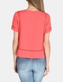 ARMANI EXCHANGE EYELET DETAIL BOXY TEE S/S Woven Top Woman r