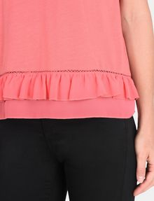 ARMANI EXCHANGE RUFFLE DETAIL TEE S/S Knit Top Woman e