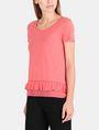 ARMANI EXCHANGE RUFFLE DETAIL TEE S/S Knit Top Woman d