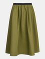 ARMANI EXCHANGE PULL-ON FULL MIDI SKIRT Langer Rock Damen b
