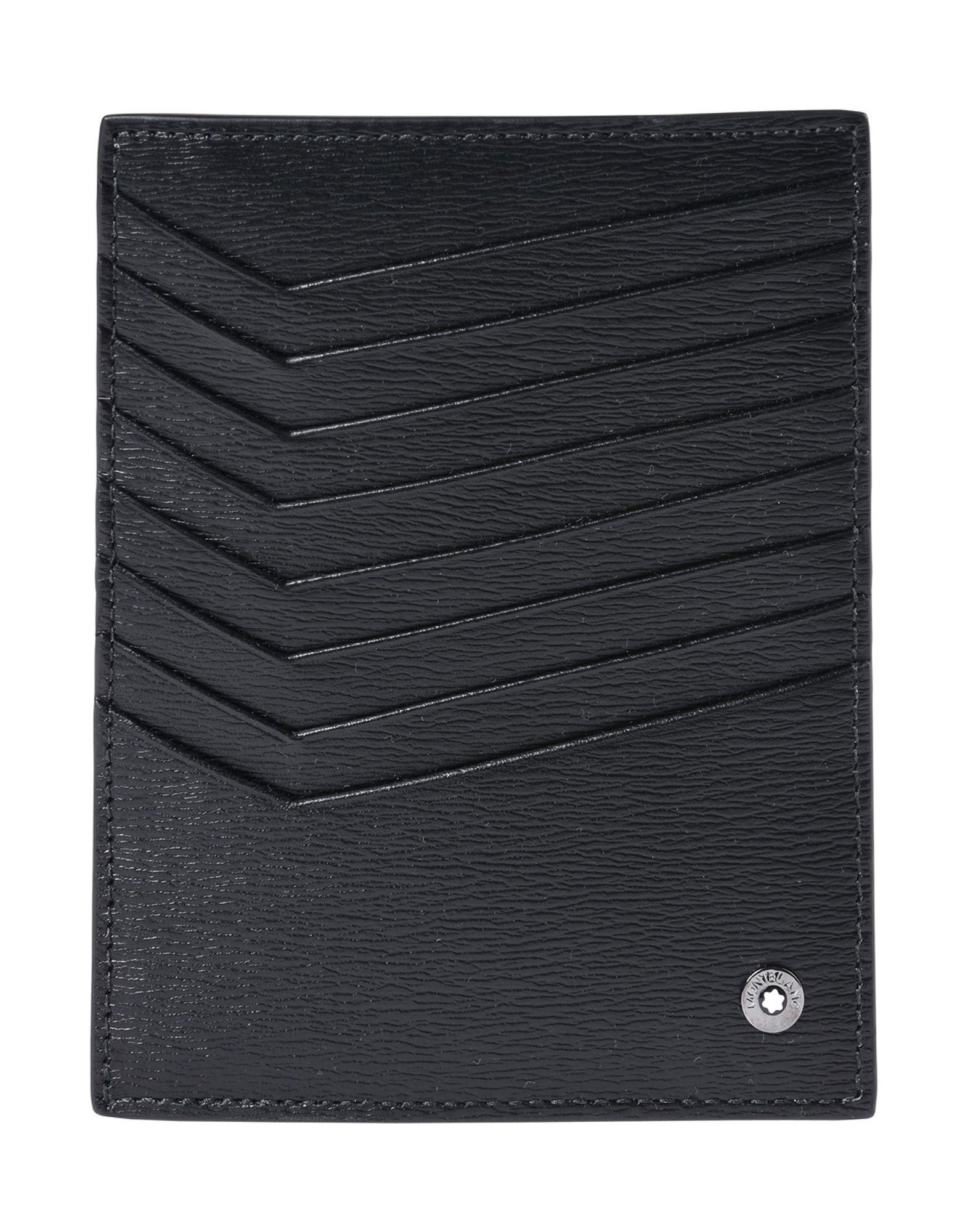 《送料無料》MONTBLANC メンズ ドキュメントホルダー ブラック 柔らかめの牛革 Long Pocket 8cc