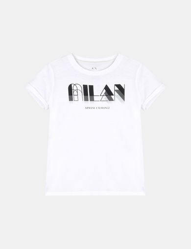 GIRLS ROLLED SLEEVE DECO CITY TEE