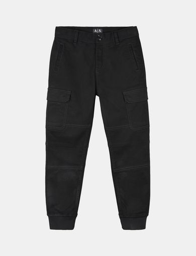 BOYS BRUSHED COTTON CARGO JOGGERS