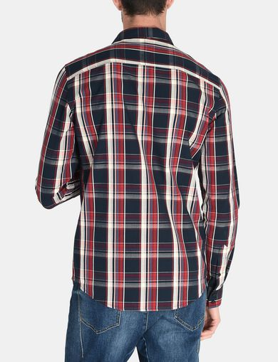 SLIM FIT MADRAS PLAID SHIRT