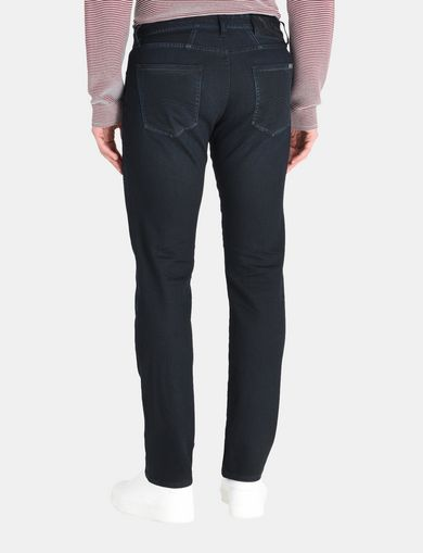 STRAIGHT FIT INDIGO OVERDYED JEANS