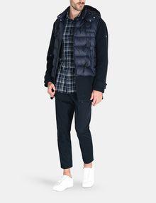 ARMANI EXCHANGE TWILL PLAID WELT-POCKET SHIRT Long sleeve shirt Man a