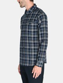 ARMANI EXCHANGE TWILL PLAID WELT-POCKET SHIRT Long sleeve shirt Man d