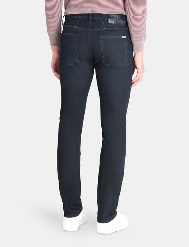 SLIM FIT OVERDYED INDIGO JEANS