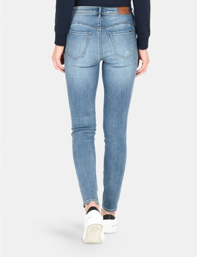ZIP DETAIL SUPER SKINNY JEANS