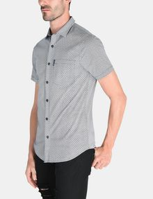 ARMANI EXCHANGE SQUARE GRID-DOT SHORT SLEEVE SHIRT Short sleeve shirt Man d