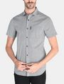ARMANI EXCHANGE SQUARE GRID-DOT SHORT SLEEVE SHIRT Short sleeve shirt Man f
