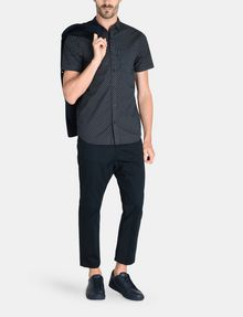 ARMANI EXCHANGE SQUARE GRID-DOT SHORT SLEEVE SHIRT Short sleeve shirt Man a