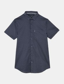 ARMANI EXCHANGE SQUARE GRID-DOT SHORT SLEEVE SHIRT Short sleeve shirt Man b