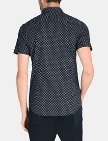 ARMANI EXCHANGE SQUARE GRID-DOT SHORT SLEEVE SHIRT Short sleeve shirt Man r
