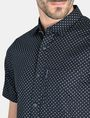 ARMANI EXCHANGE SQUARE GRID-DOT SHORT SLEEVE SHIRT Short sleeve shirt Man e