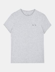 ARMANI EXCHANGE SERIF-BACK LOGO T-SHIRT Logo T-shirt Man b
