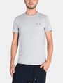 ARMANI EXCHANGE SERIF-BACK LOGO T-SHIRT Logo T-shirt Man f
