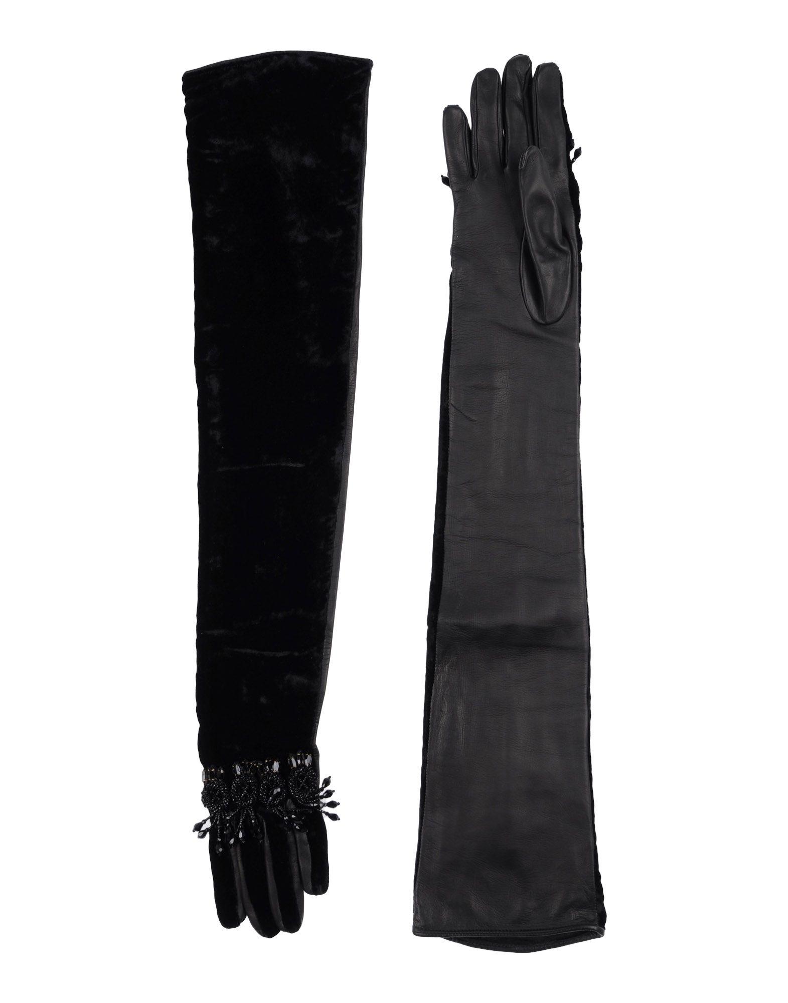 DSQUARED2 Damen Handschuhe Farbe Schwarz Größe 2
