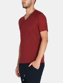 ARMANI EXCHANGE ALLOVER A|X PANELED RAGLAN V-NECK T-SHIRT S/S Knit Top Man d